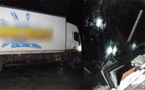 ВЧерниговской области неизвестные вмасках обстреляли иограбили фургон