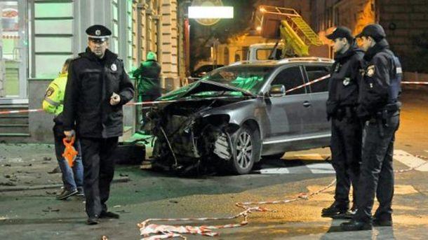 Місце аварії у Харкові