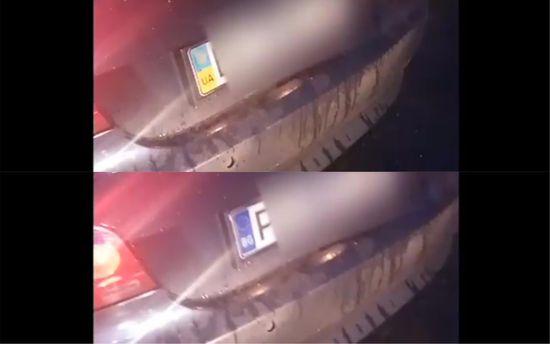 Авто с номерными знаками-трансформерами остановили одесские патрульные