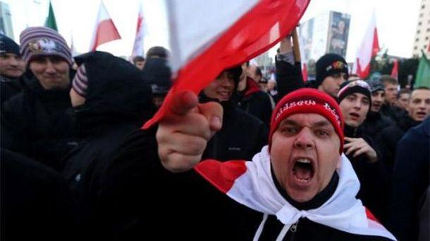 Польша главнее всего . ВВаршаве националисты устроили превосходный  марш