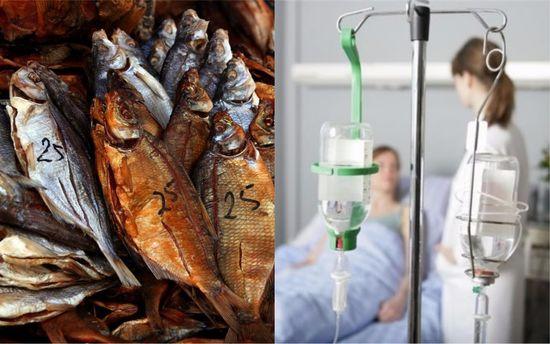 НаЛьвовщине люди попали вреанимацию из-за отравления вяленой рыбой