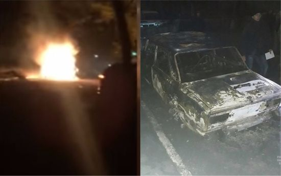 Взрыв авто в Желтых Водах видео