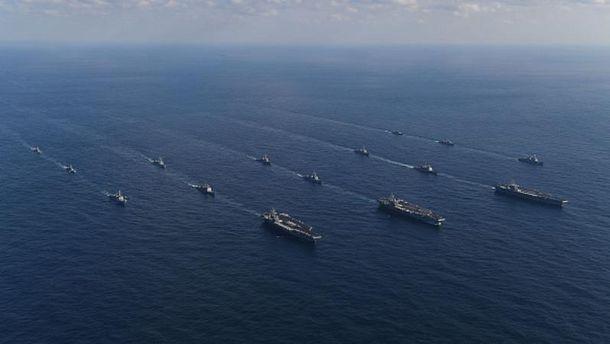 Американские авианосцы возле Южной Кореи