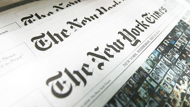 Карта Криму у The New York Times