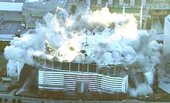 ВСША использовали 2,5 тонн взрывчатки для демонтажа футбольного стадиона