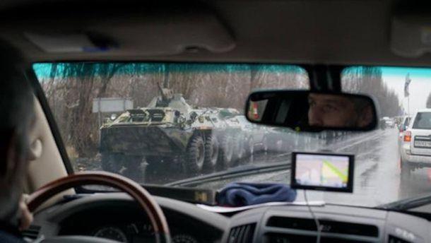 Возвращение военной техники изЛуганска вДонецк попало навидео