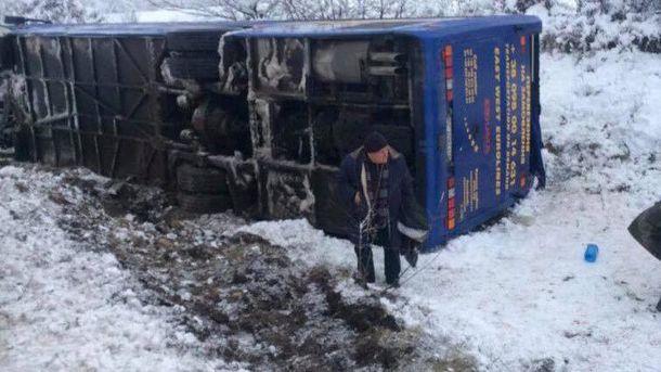 Автобус із 30 пасажирами перекинувся на Львівщині