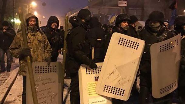 Палаточный городок сторонников Саакашвили