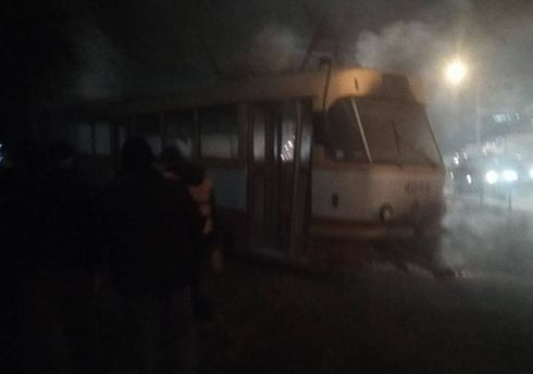 В Одессе загорелся трамвай с пассажирами: есть пострадавшие