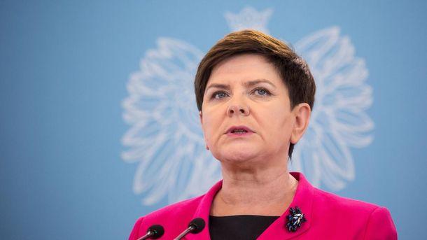 Прем'єр Польщі Беата Шидло подала у відставку