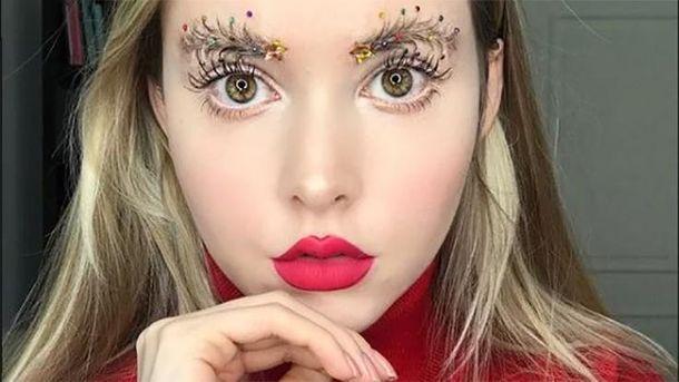 Как сделать брови елочкой— новогодний бьюти-тренд захватывает соцсети