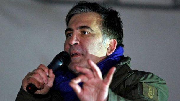 Протестующие перекрыли улицу около здания СБУ после ареста Саакашвили