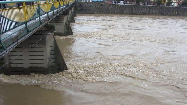 Затоплены поля идороги— НаЗакарпатье паводок