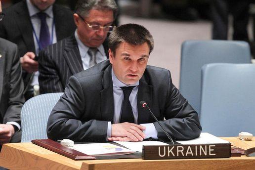 Климкин обсудил с генеральным секретарем ООН миротворческую миссию вДонбассе