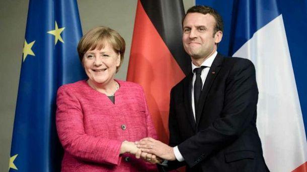 Анґела Меркель і Еммануель Макрон