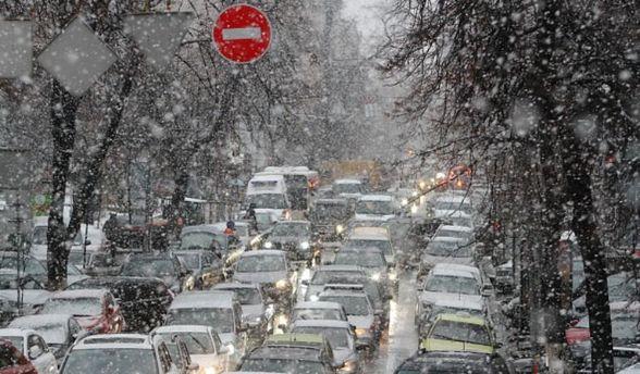 В Києві через негоду не працюють світлофори