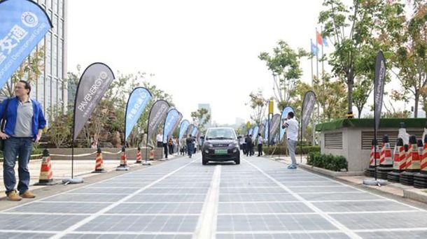 Новые дороги в Китайская республика построят изсолнечных панелей