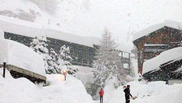 Снегопады в Альпах