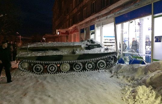 Росіянин викрав бронетранспортер