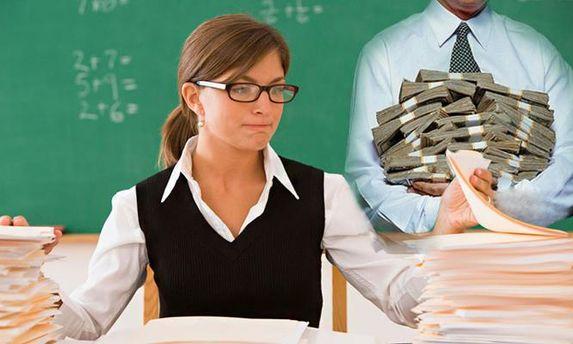 Освітянське начальство на Ямпільщині стверджує, що грошей на надбавки педагогам нема.МОН заявляє, що  є!