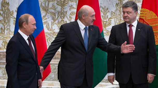 Путин, Лукашенко, Порошенко