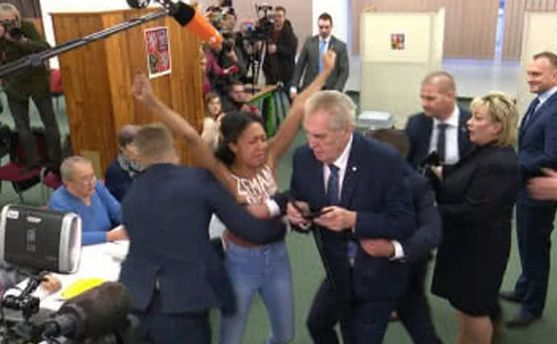 Голая активистка Femen не планировала нападать на Земана, – адвокат