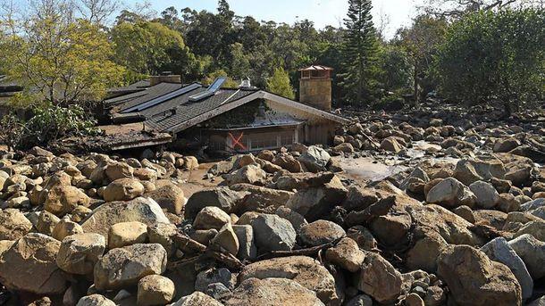 Маже два десятки людей загинули через потужні зливи і зсуви у Каліфорнії