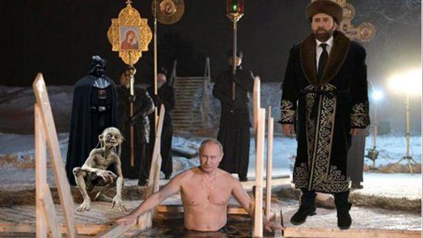 Самые смешные мемы недели: купание Путина на Крещение и
