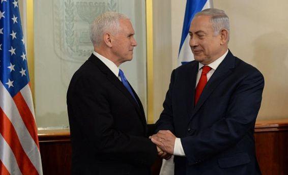 Пенс зустрівся зНетаньягу натлі обурення палестинців рішенням США щодо Єрусалима