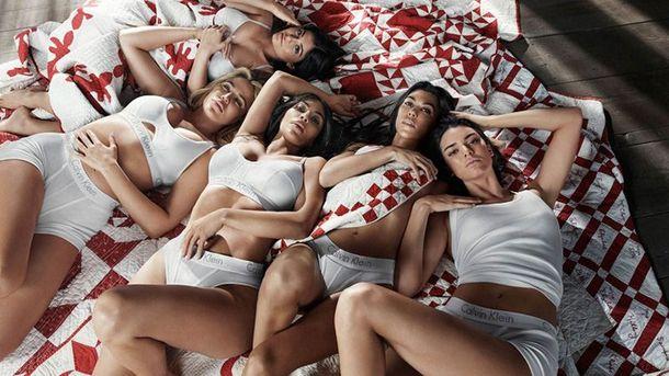 Сестри Кардашян-Дженнер стали героїнями рекламної кампанії Calvin Klein: спокусливі фото