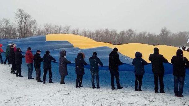 Сьогодні наКПВВ «Каланчак» розгорнуть величезний Державний Прапор України