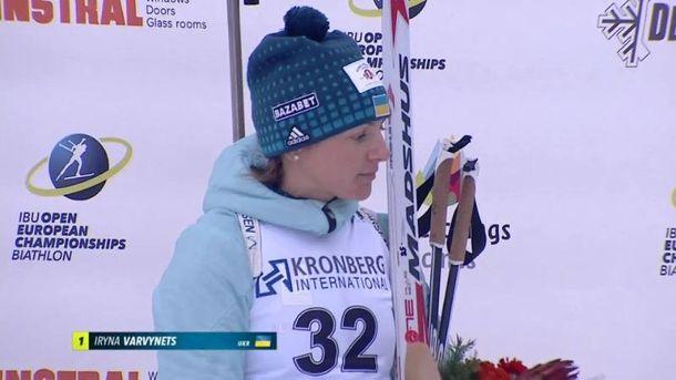 Українка виграла «золото» чемпіонату Європи з біатлону вспринті