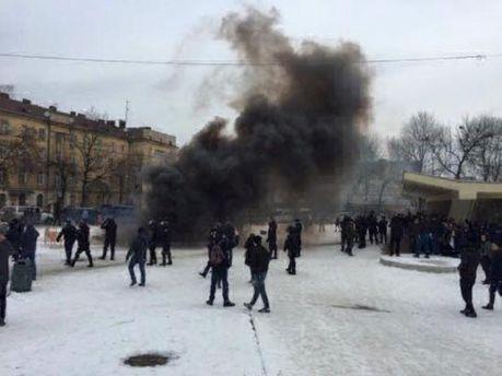 УЛьвові наакції зацирк без тварин, поліція затримала активістів