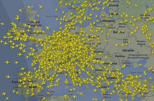 З Борисполя вилетів неопізнаний літак