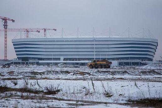 Стадіон до ЧС-2018 у Росії провалюється під землю (фото)