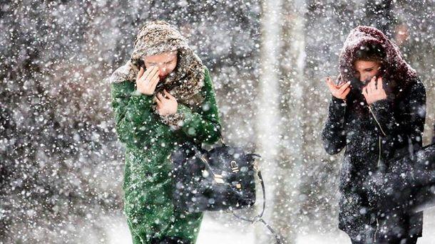 Україну накриють сильні снігопади та хуртовини
