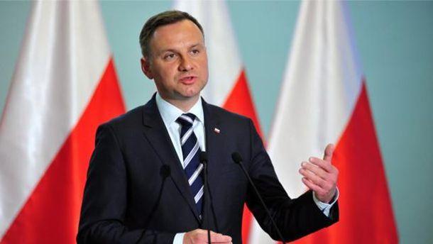 Дуда назвав помилку Польщі у прийнятті закону про Інститут нацпам'яті