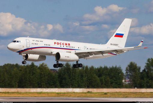 До Сирії прибув літак із кортежу Путіна: фото