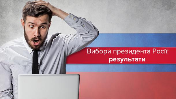 Вибори президента Росії: офіційні результати голосування