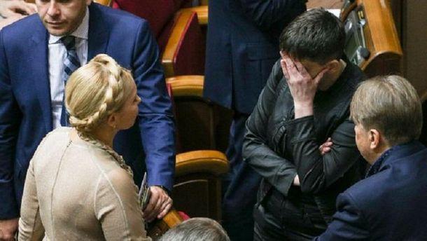 «Мне еежаль». Тимошенко впервый раз прокомментировала арест Савченко