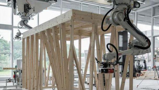 ВШвейцарии роботов обучили строить каркасы зданий