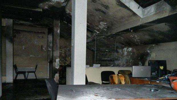 Спалений штаб