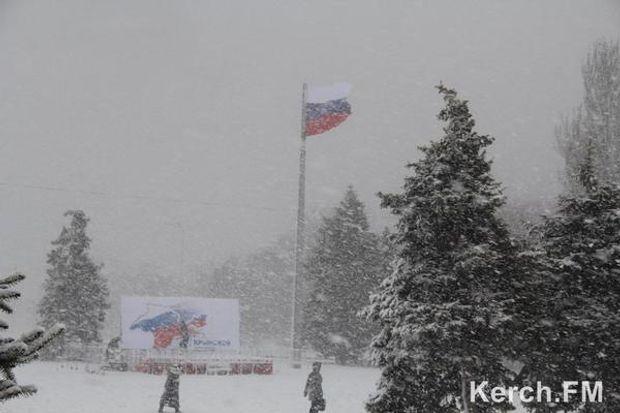 Сімферополь, снігопад