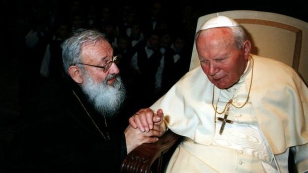 Любомир Гузар і Папа Римський Іван Павло ІІ