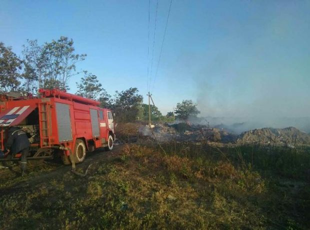 Пожежа на сміттєзвалищі на Київщині