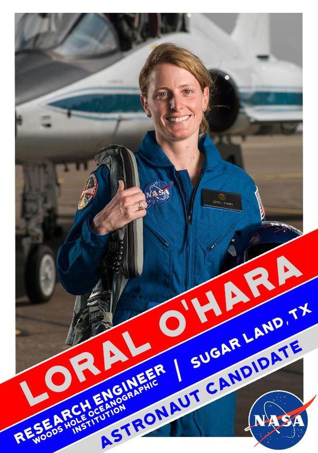 Лорал О'Хара у складі групи астронавтів для польоту на Марс