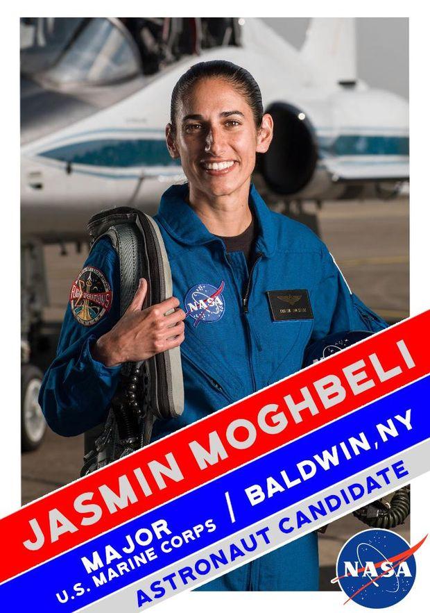 Жасмін Могбелі у складі групи астронавтів для польоту на Марс