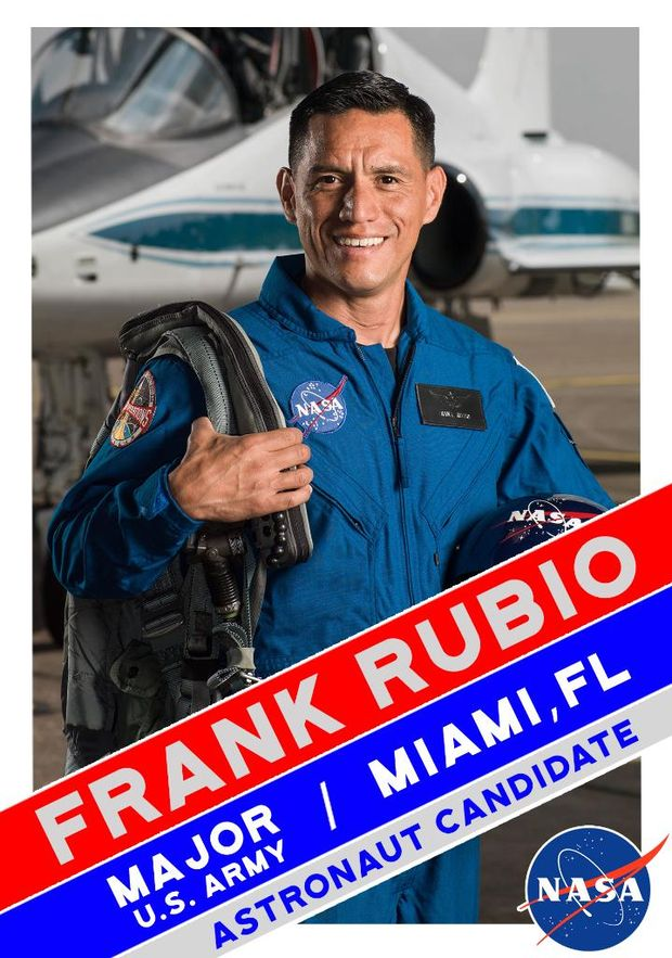 Франциско Рубіо у складі групи астронавтів для польоту на Марс