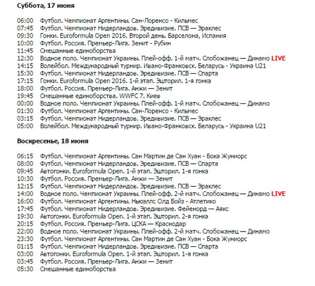 Спорт 1, Телепрограма, Кубок Конфедерацій, футбол, спорт, Росія