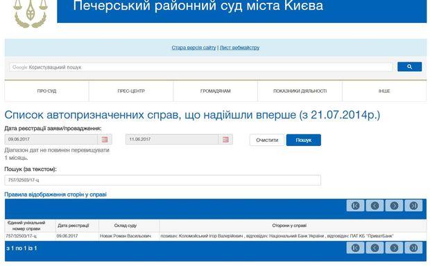 Коломойський просить суд розірвати договір поруки з НБУ по боргах